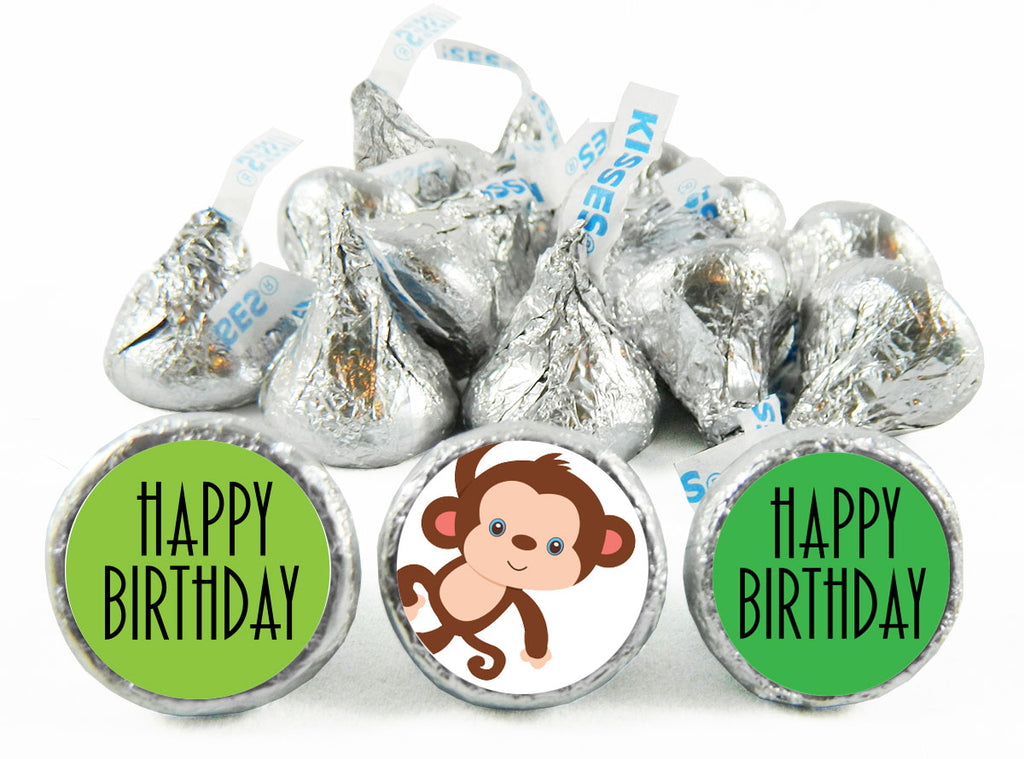 Monkey Jungle Birthday Party Labels for Hershey's Kisses