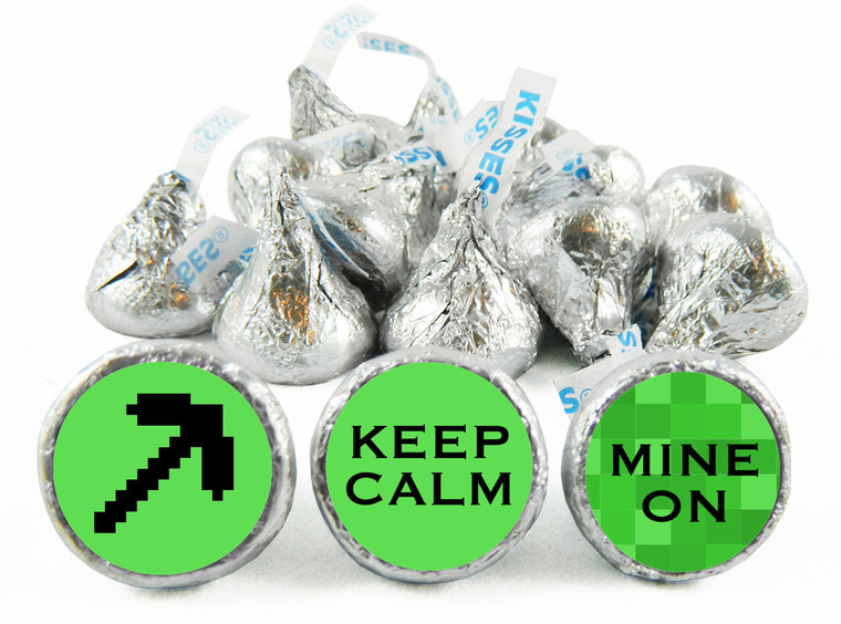 Keep Calm Mine On Birthday Party Labels for Hershey's Kisses