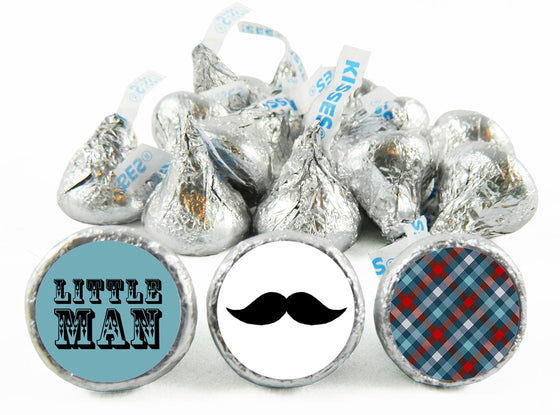 Little Man Birthday Party Labels for Hershey's Kisses