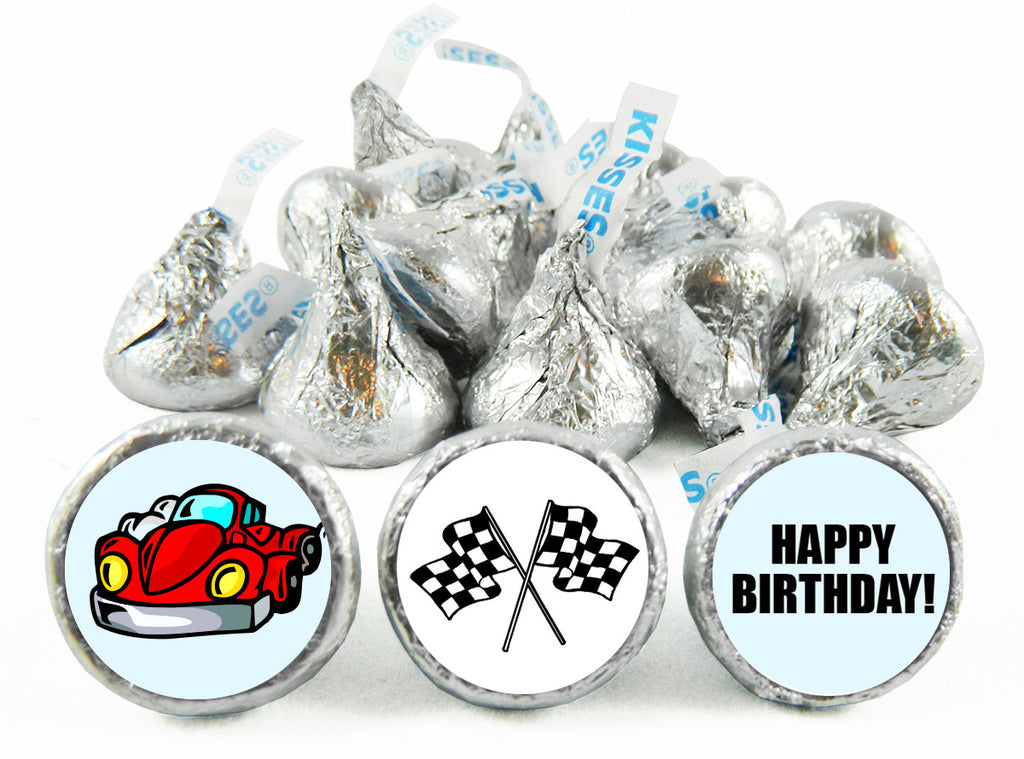 Racing Birthday Party Labels for Hershey's Kisses