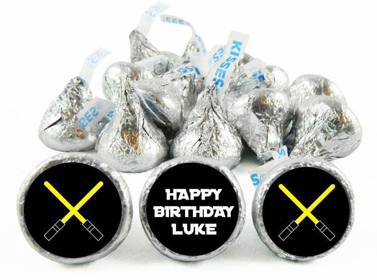 Jedi Master Birthday Party Labels for Hershey's Kisses