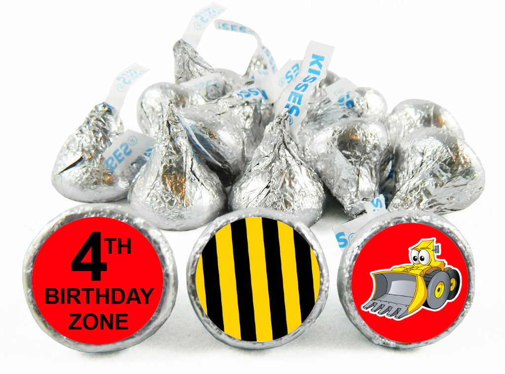 Birthday Zone Tractor Birthday Party Labels for Hershey's Kisses