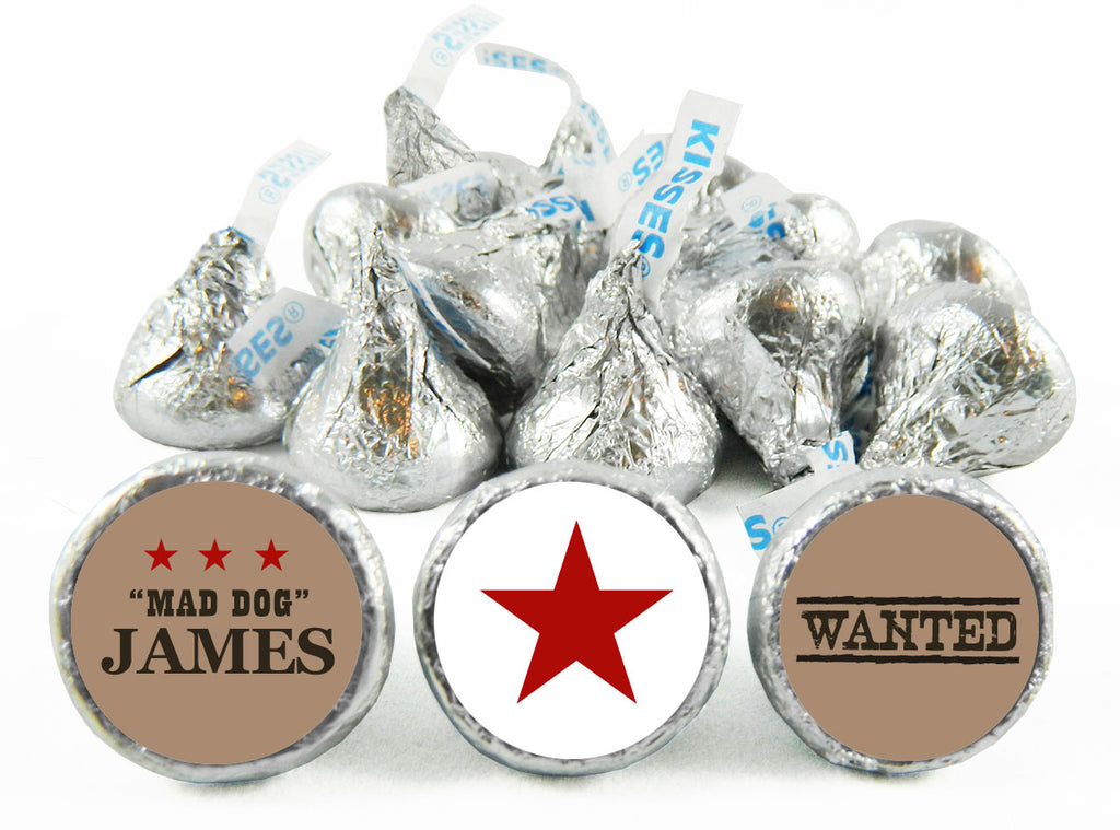 Mad Dog Cowboy Birthday Party Labels for Hershey's Kisses