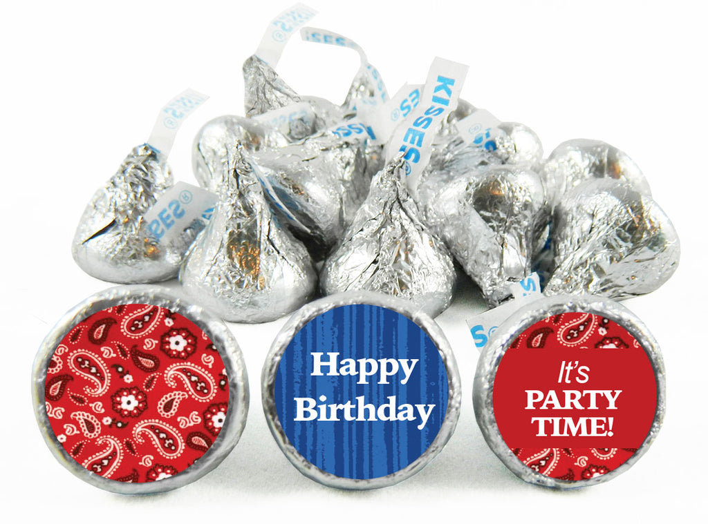 Western Birthday Party Labels for Hershey's Kisses