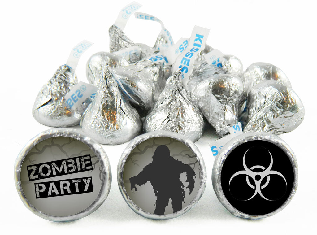 Walkers Zombie Party Birthday Party Labels for Hershey's Kisses