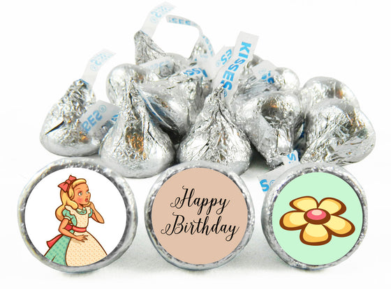 Wonderland Birthday Party Labels for Hershey's Kisses