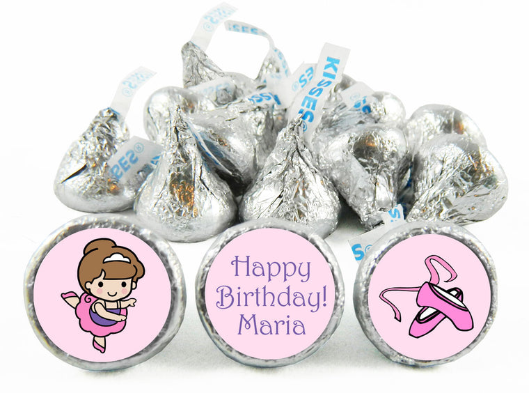 Ballet Girl Birthday Party Labels for Hershey's Kisses