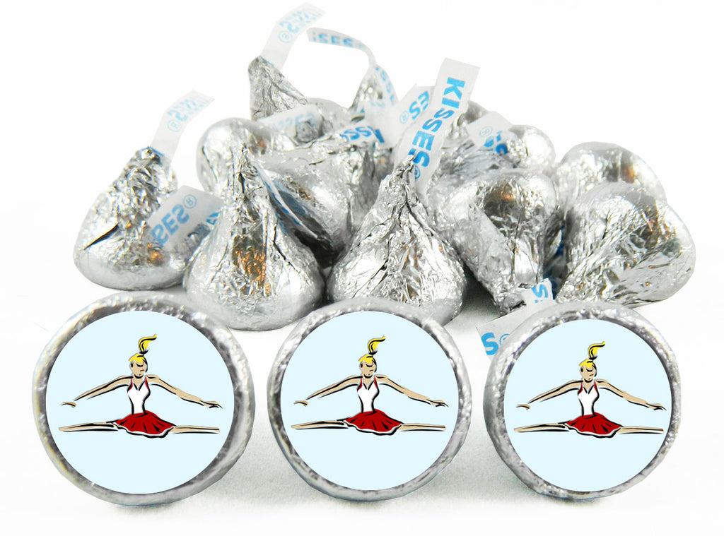 Gymnastics Girl Birthday Labels for Hershey's Kisses