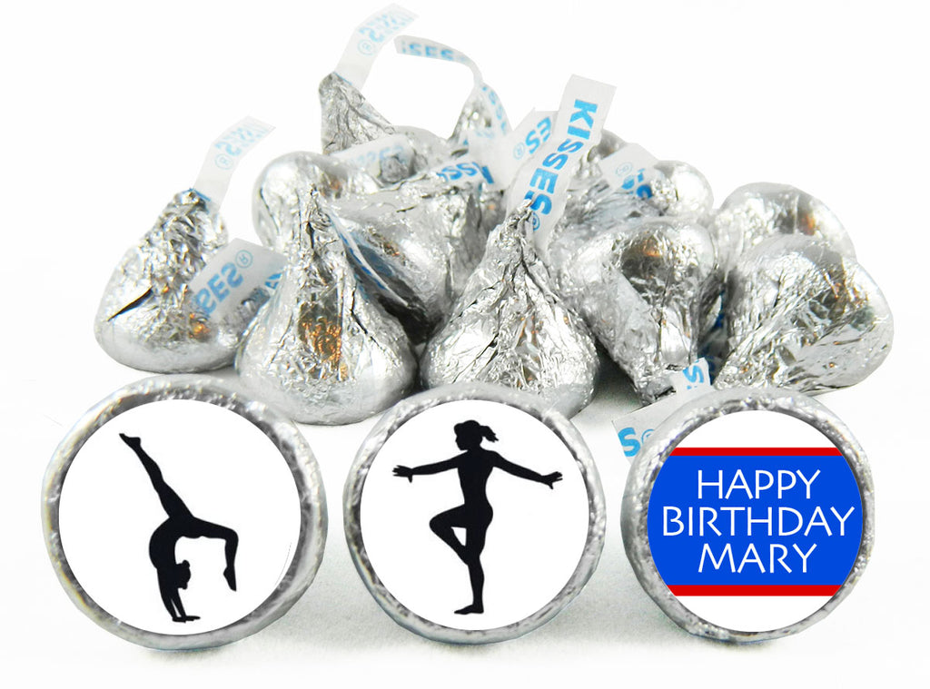 Cheer Girl Birthday Labels for Hershey's Kisses