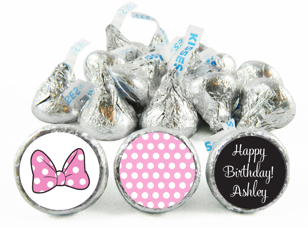 Minnie Girl Birthday Labels for Hershey's Kisses