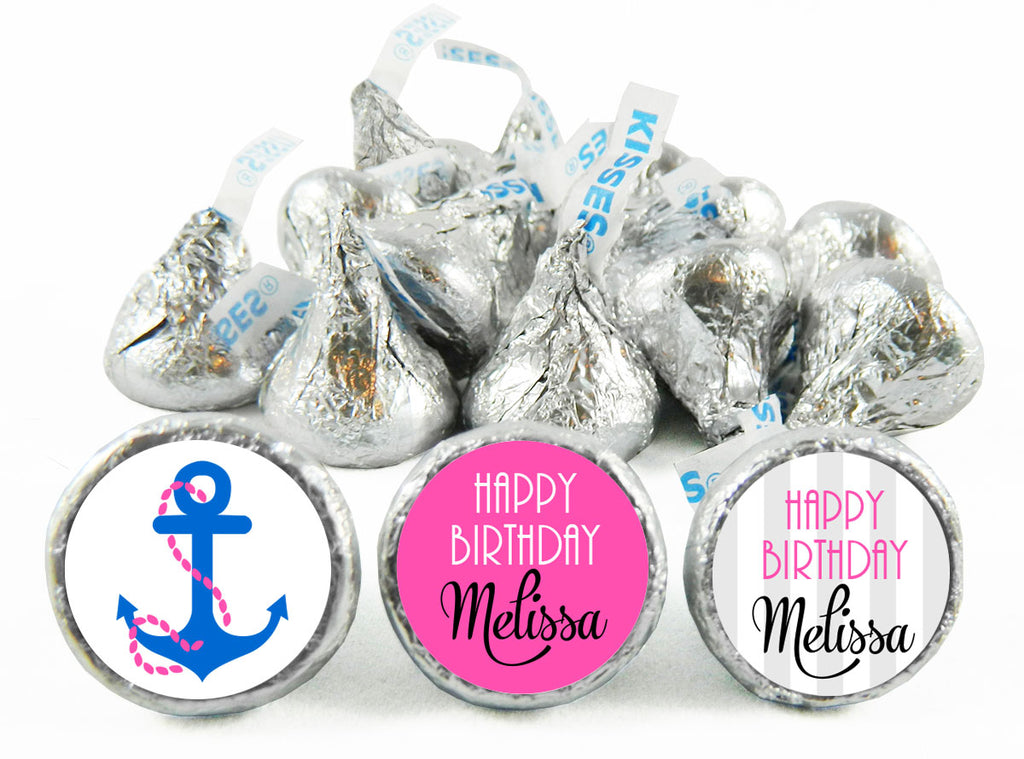 Nautical Girl Birthday Labels for Hershey's Kisses