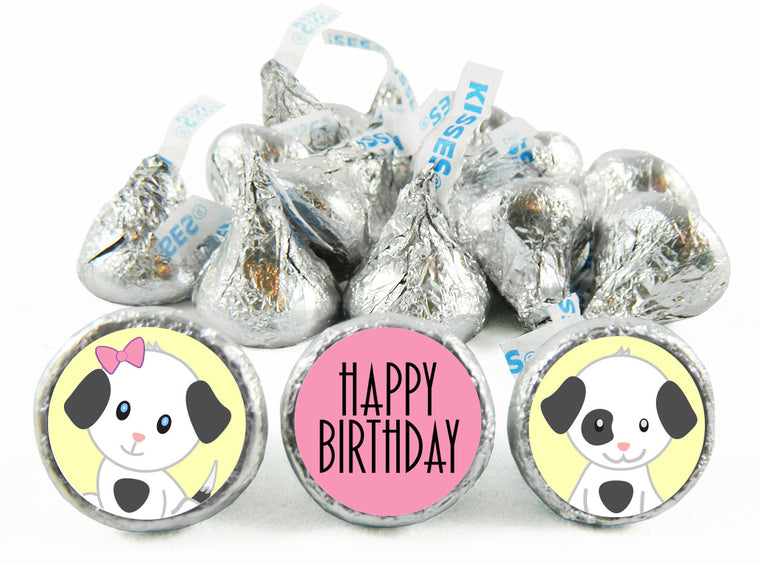 Spots Dog Birthday Labels for Hershey's Kisses
