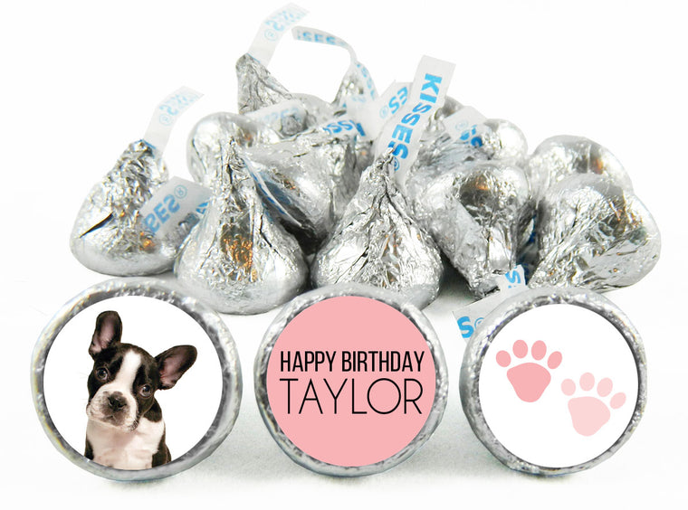 The Dog Girl Birthday Party Labels for Hershey's Kisses