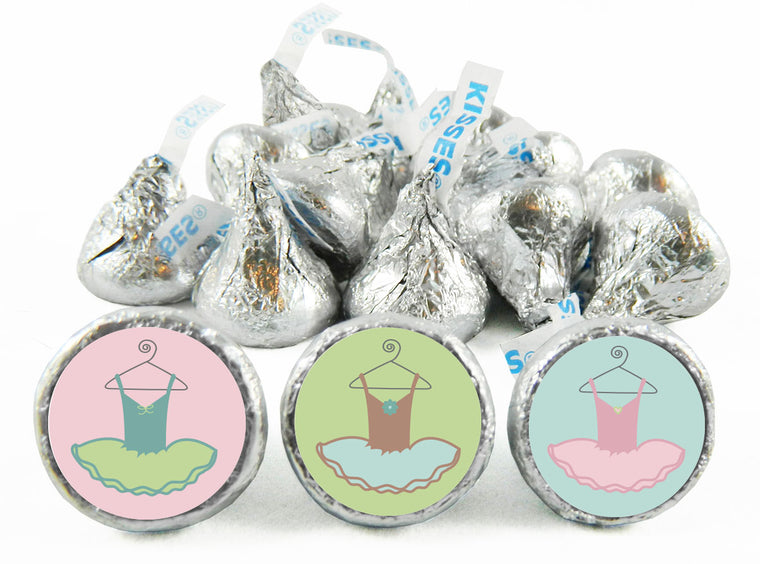 Tutu Ballet Girl Birthday Party Labels for Hershey's Kisses