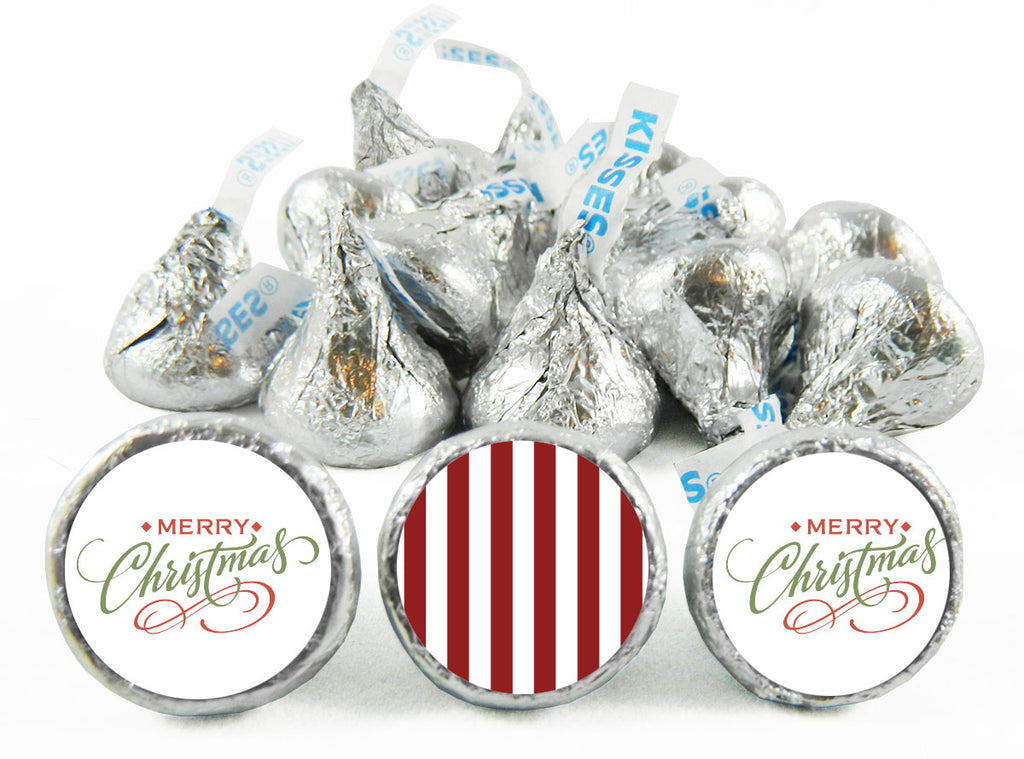 Merry Christmas Script Labels for Hershey's Kisses