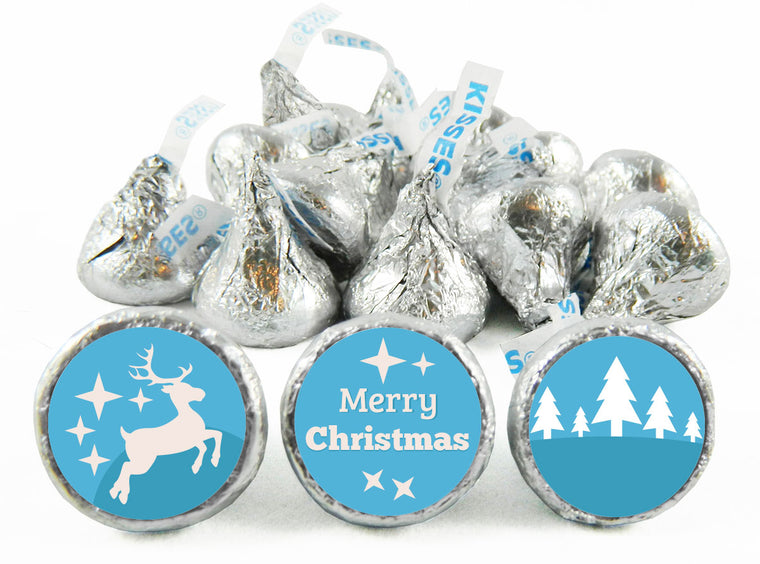 Snowy Christmas Labels for Hershey's Kisses