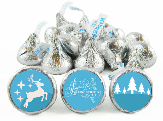 Season's Greetings Holiday Labels for Hershey's Kisses