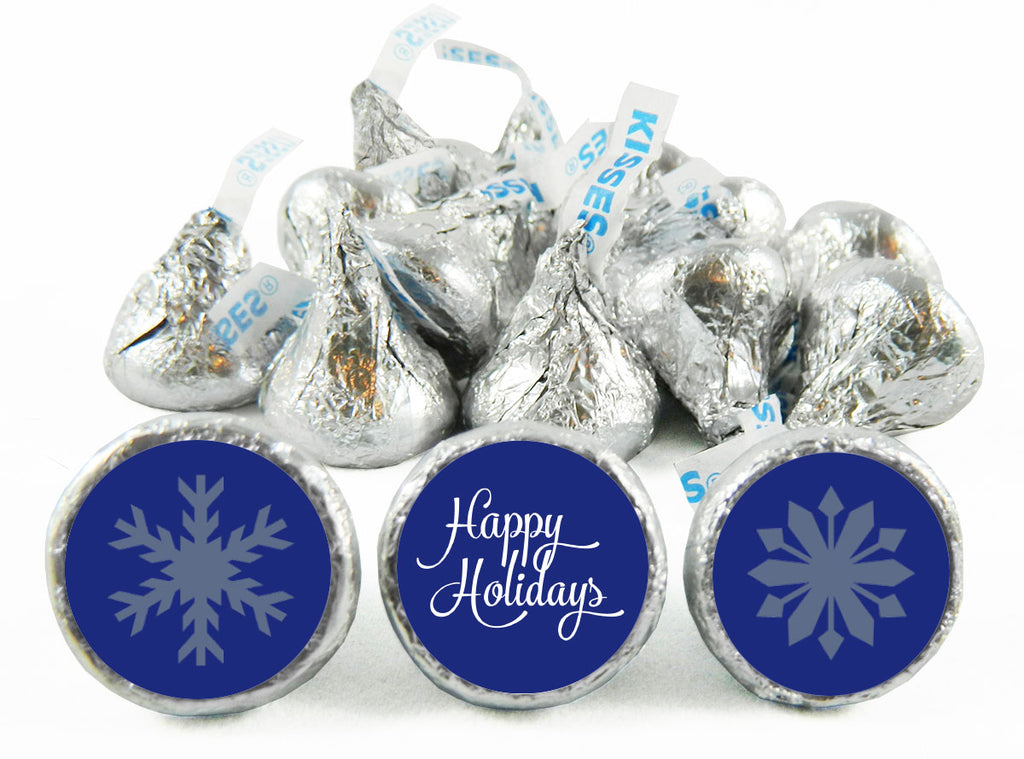 Snowflakes Holiday Labels for Hershey's Kisses