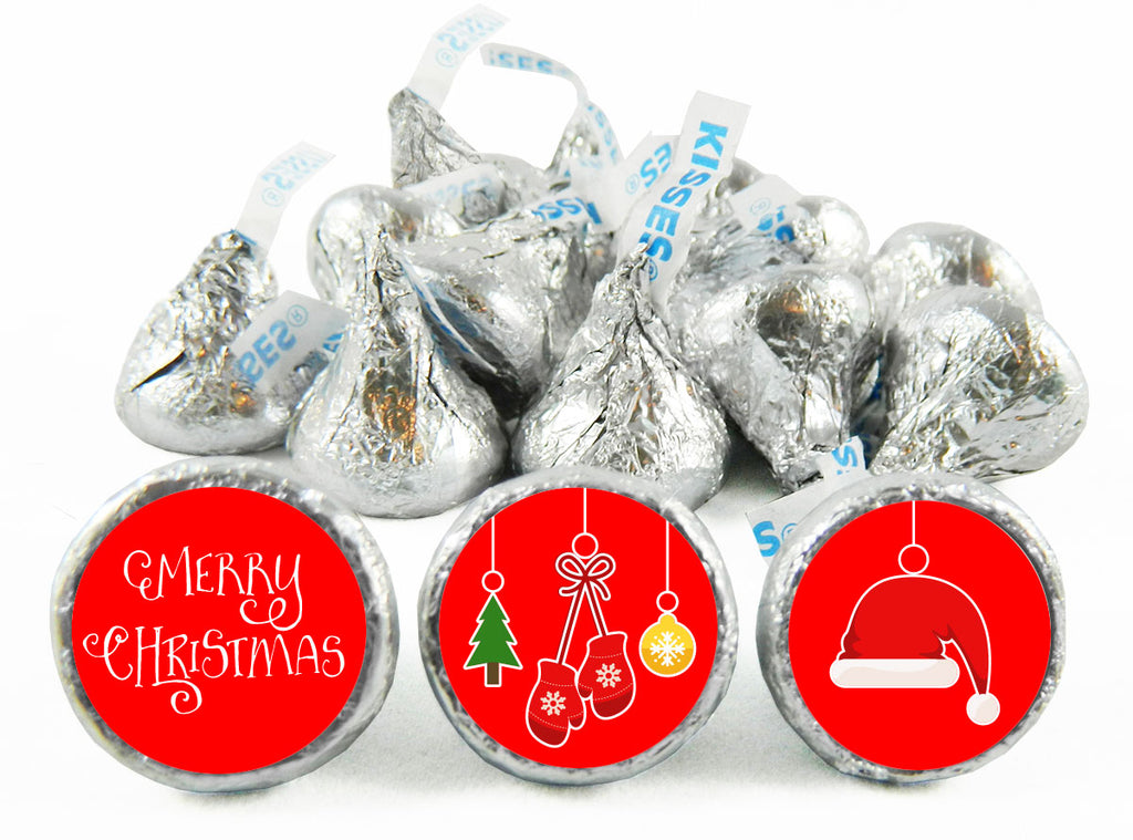 Ornaments Christmas Labels for Hershey's Kisses
