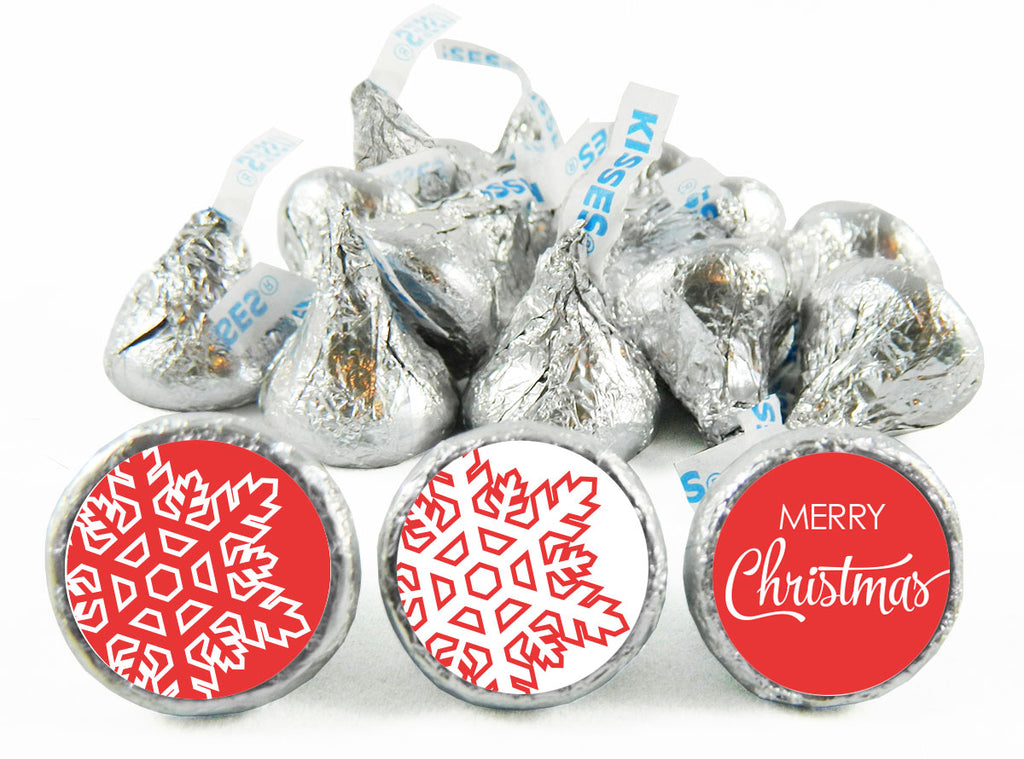 Snowflakes Christmas Labels for Hershey's Kisses