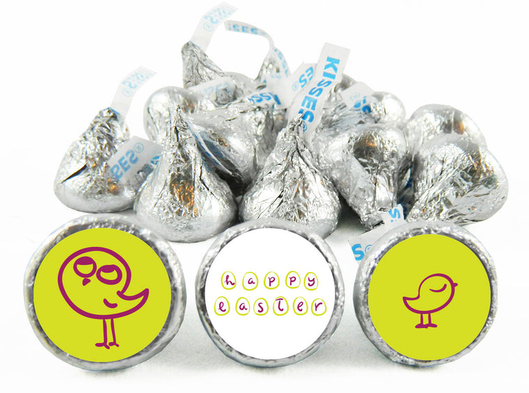 Easter Doodle Bird Labels for Hershey's Kisses