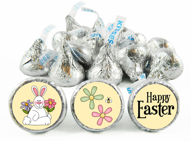 Happy Easter Bunny Labels for Hershey's Kisses