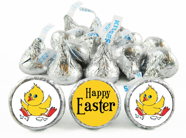 Happy Easter Chick Labels for Hershey's Kisses