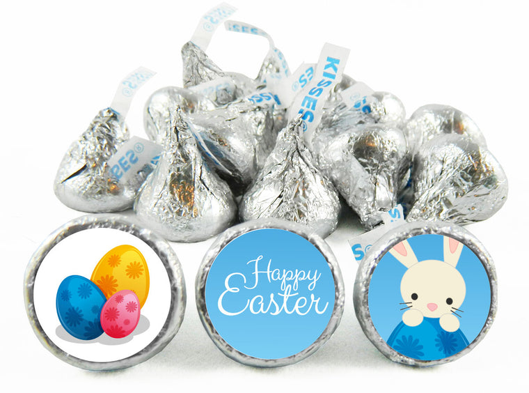 Colored Eggs Easter Labels for Hershey's Kisses