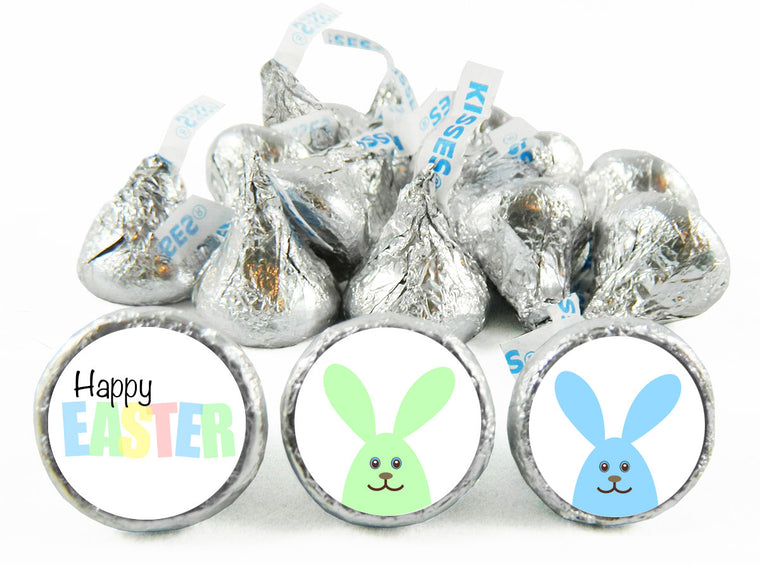 Pastel Bunnies Easter Labels for Hershey's Kisses