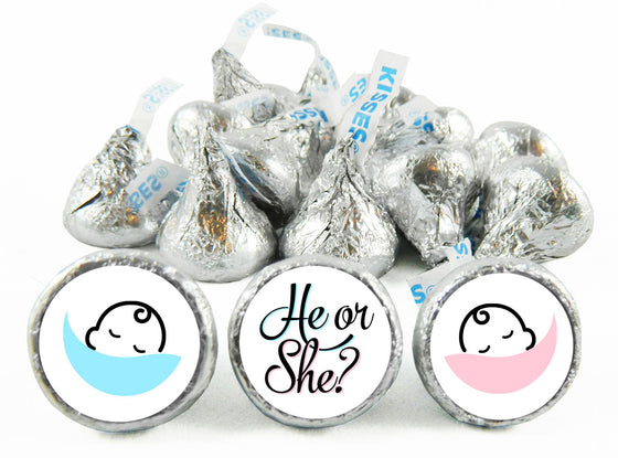 He or She? Gender Reveal Labels for Hershey's Kisses