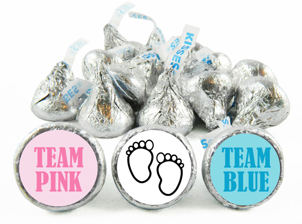 Team Pink? Team Blue? Gender Reveal Labels for Hershey's Kisses