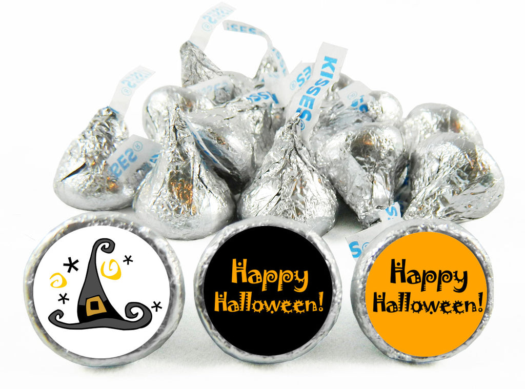 Witches Hat Halloween Labels for Hershey's Kisses