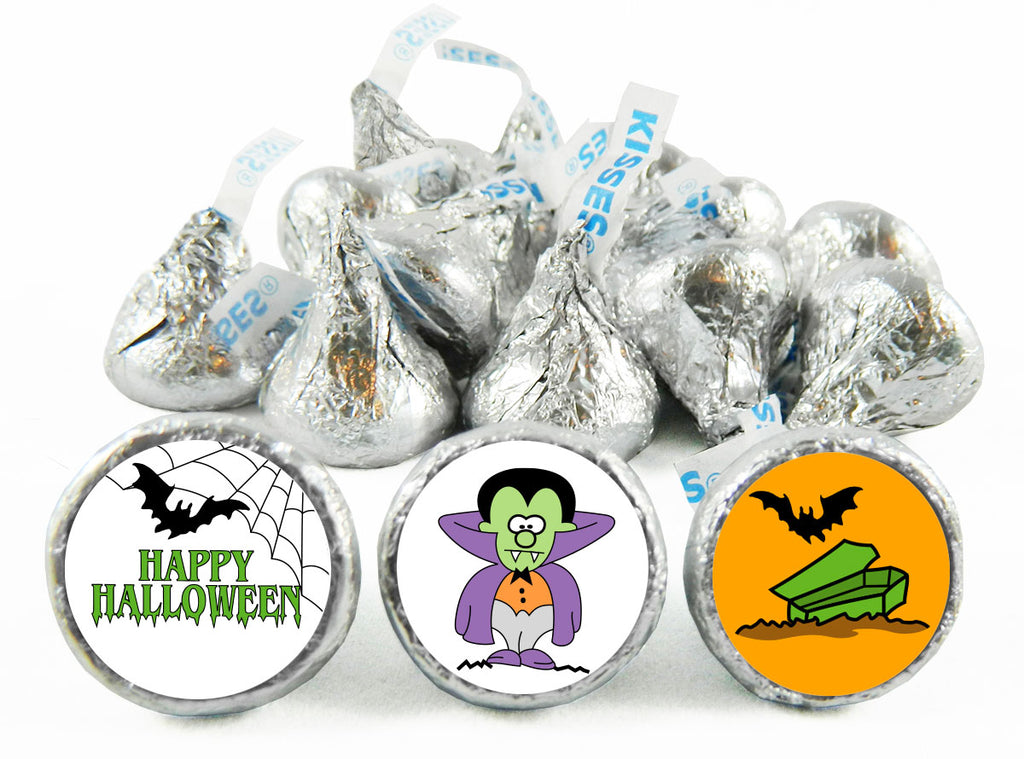 Dracula Halloween Labels for Hershey's Kisses