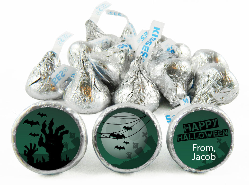 Zombie Halloween Labels for Hershey's Kisses