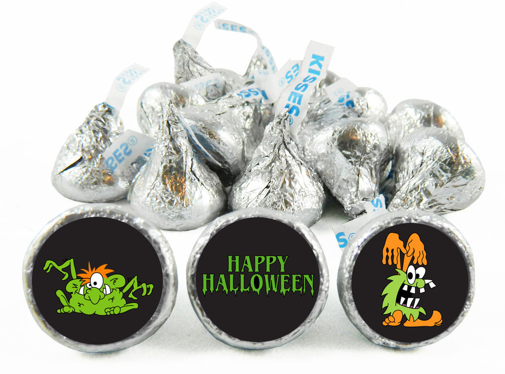 Monsters Halloween Labels for Hershey's Kisses
