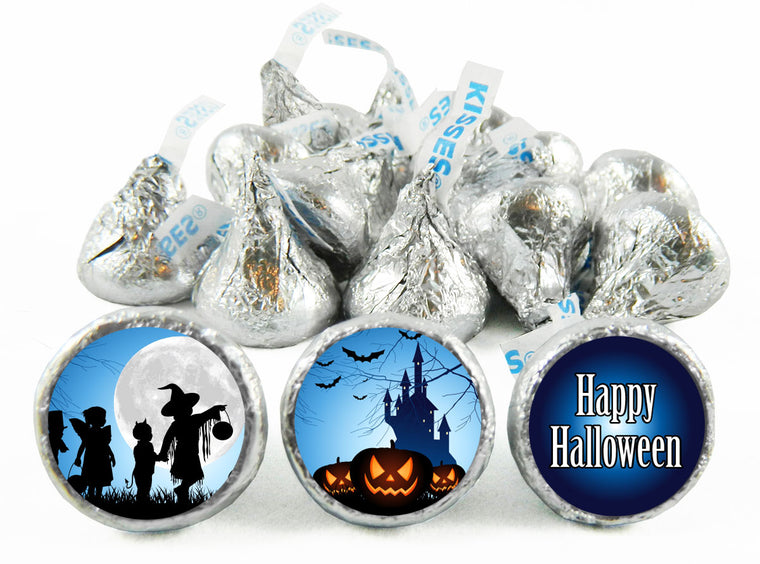 Trick or Treat Halloween Labels for Hershey's Kisses