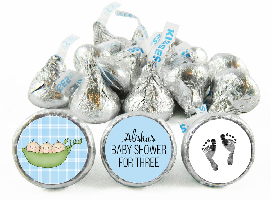 Sweet Pea Twin Baby Shower Labels for Hershey's Kisses