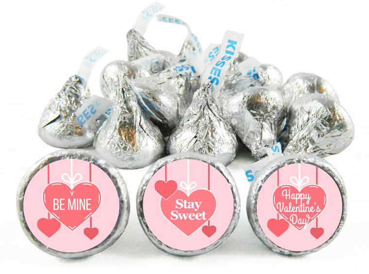 Hanging Hearts Valentine's Day Labels for Hershey's Kisses