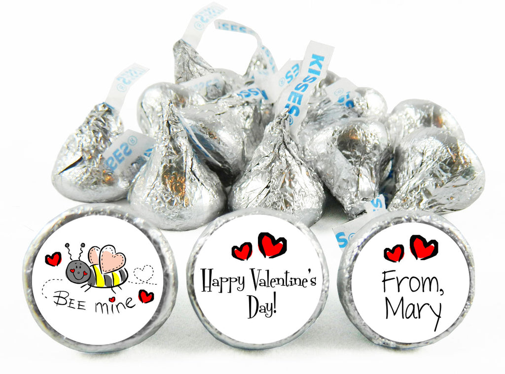 Bee Mine Valentine's Day Labels for Hershey's Kisses