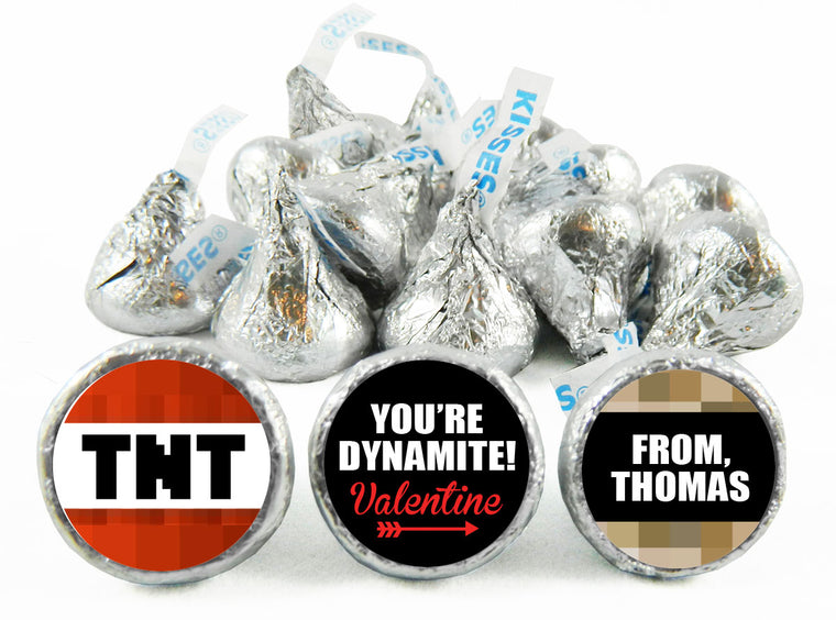 You're Dynamite! TNT Valentine's Day Labels for Hershey's Kisses