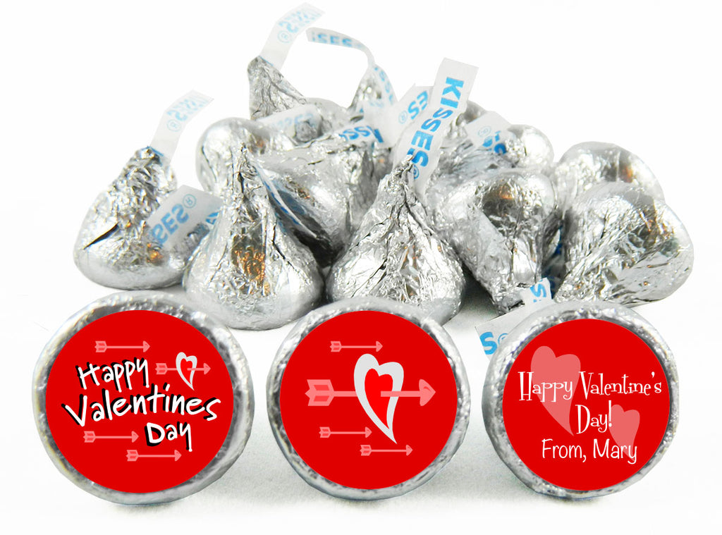 Arrow Hearts Valentine's Day Labels for Hershey's Kisses