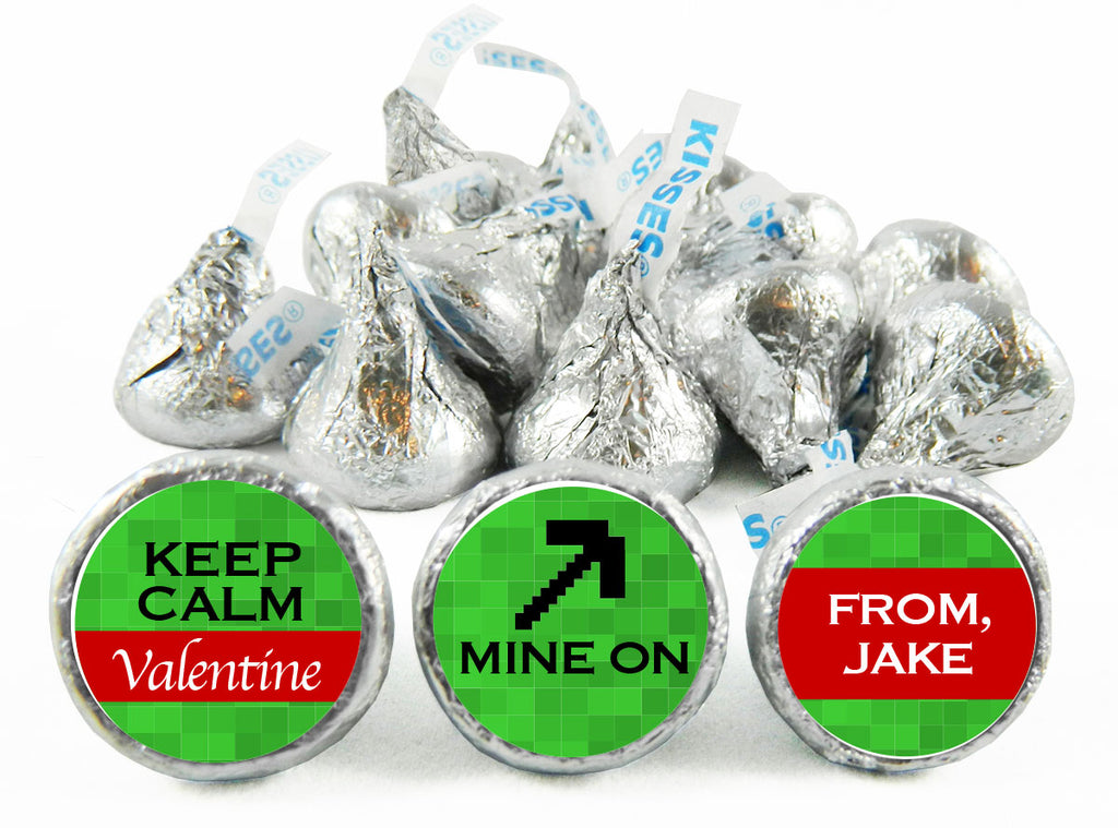 Keep Calm Valentine's Day Labels for Hershey's Kisses