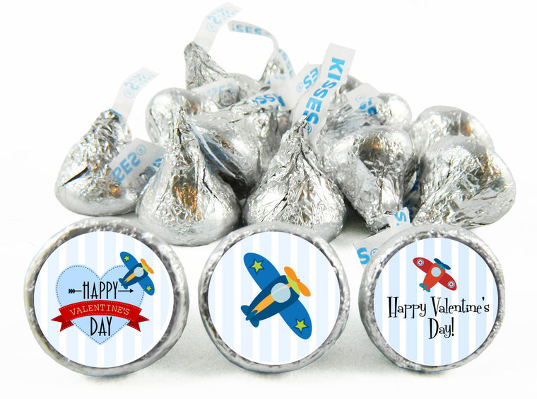 Planes Valentine's Day Labels for Hershey's Kisses
