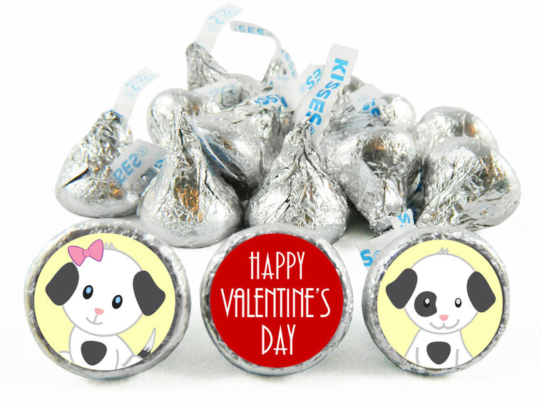 Puppies Valentine's Day Labels for Hershey's Kisses