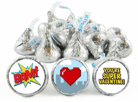Super Hero Valentine's Day Labels for Hershey's Kisses