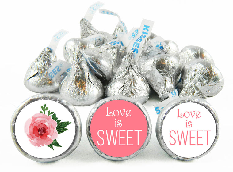 Love is Sweet Wedding Anniversary Labels for Hershey's Kisses