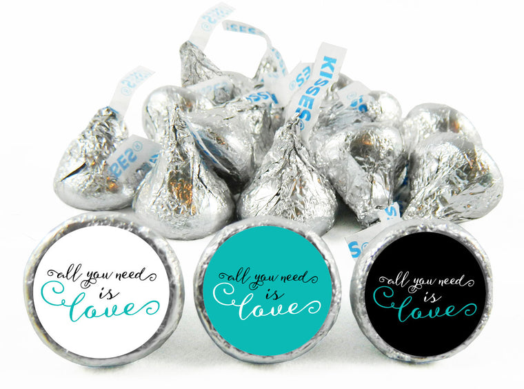 All You Need is Love Wedding Labels for Hershey's Kisses