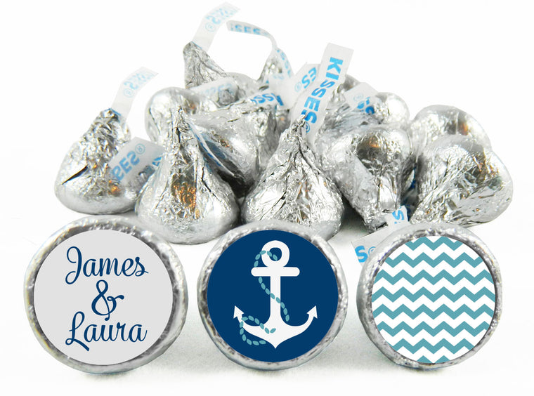 Nautical Wedding Anniversary Labels for Hershey's Kisses