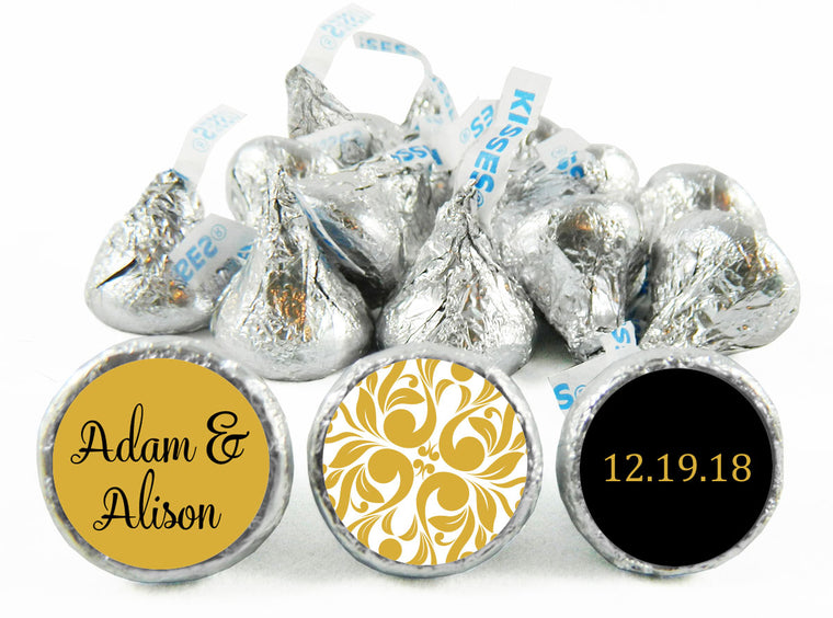 Gold Wedding Labels for Hershey's Kisses