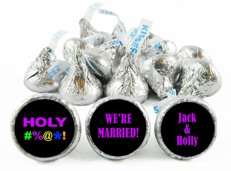HOLY Bleep Wedding Labels for Hershey's Kisses
